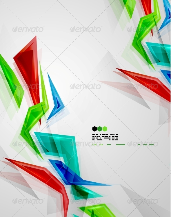 GraphicRiver Colorful Glass Pieces 4925119