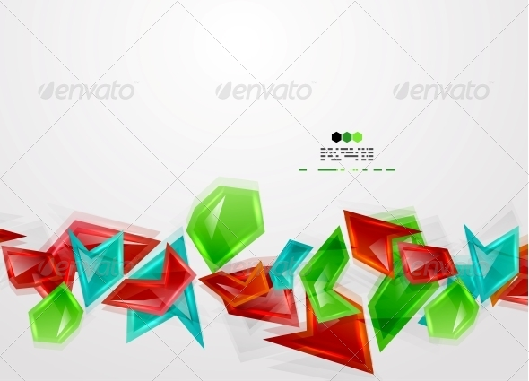 GraphicRiver Colorful Glass Pieces 4925170