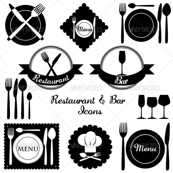 GraphicRiver Restaurant and Bar Icons 4918710