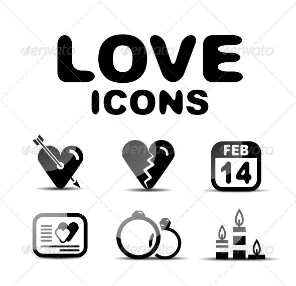 GraphicRiver Love Glossy Icon Set Vector Illustration 4925411