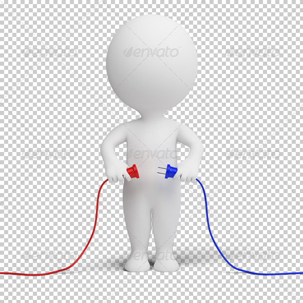 GraphicRiver 3D small people connection 4925431
