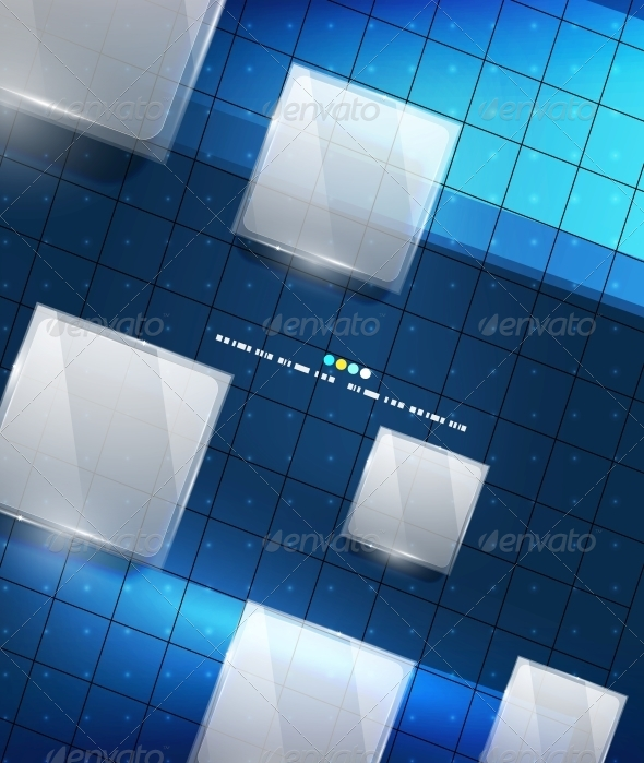 GraphicRiver Blue Geometry Lines Background 4925542