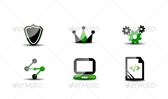 GraphicRiver Modern Vector Web Green 4925596