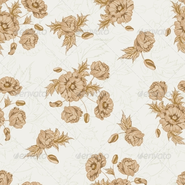 GraphicRiver Pattern of Poppy Flowers 4925635