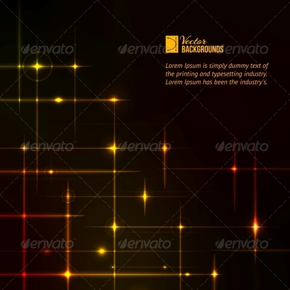 GraphicRiver Golden Stars over Dark Background 4925701