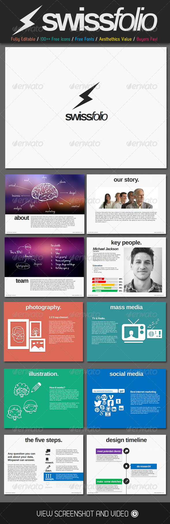 GraphicRiver Swiss Folio PowerPoint Template 4925711
