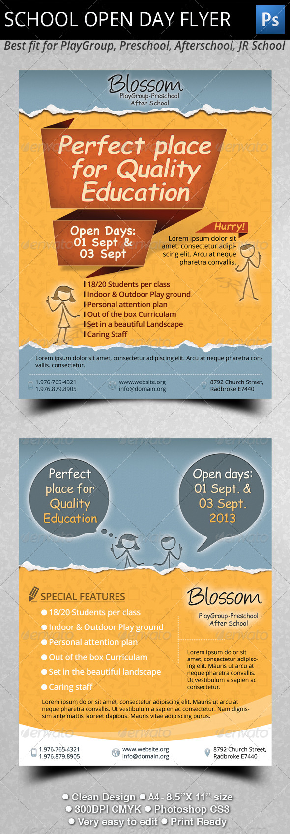 GraphicRiver School Open Day Flyer 4925743