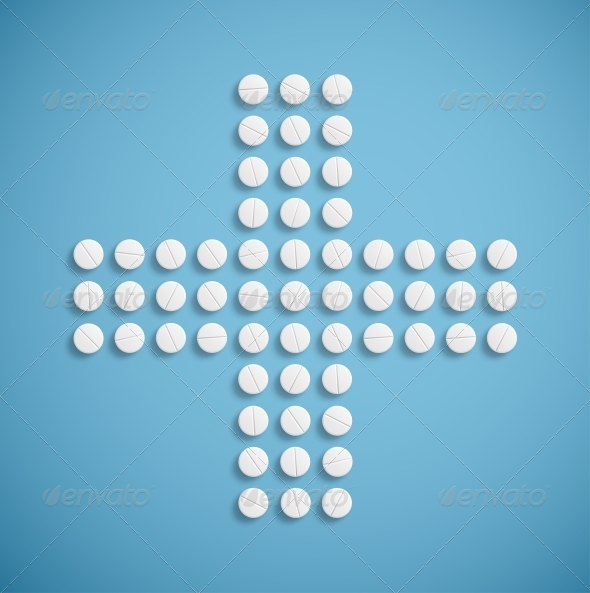 GraphicRiver Medical Cross from Pills 4925853