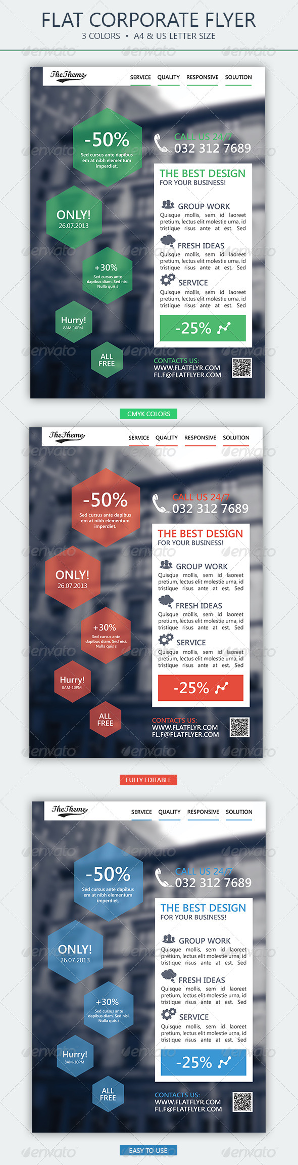GraphicRiver Flat Corporate Flyer 3 4925931