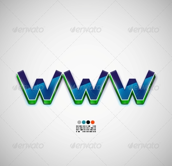 WWW Internet Vector Background