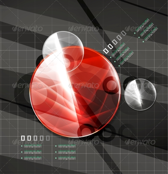 GraphicRiver Glossy Color Circles on Black 4926074