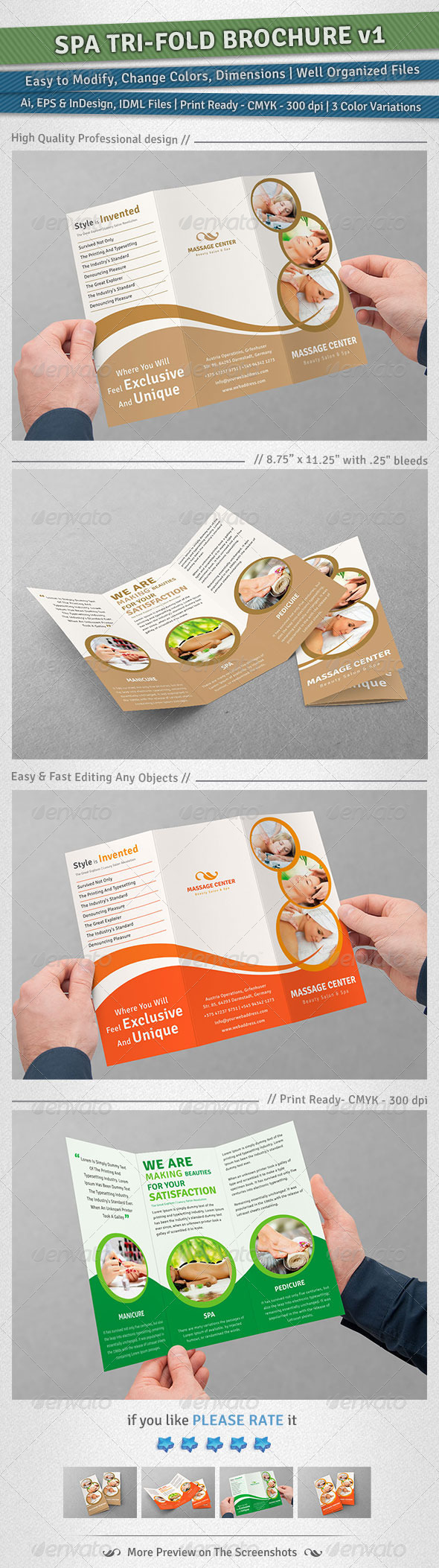 GraphicRiver Spa Tri-Fold Brochure Volume 1 4926105