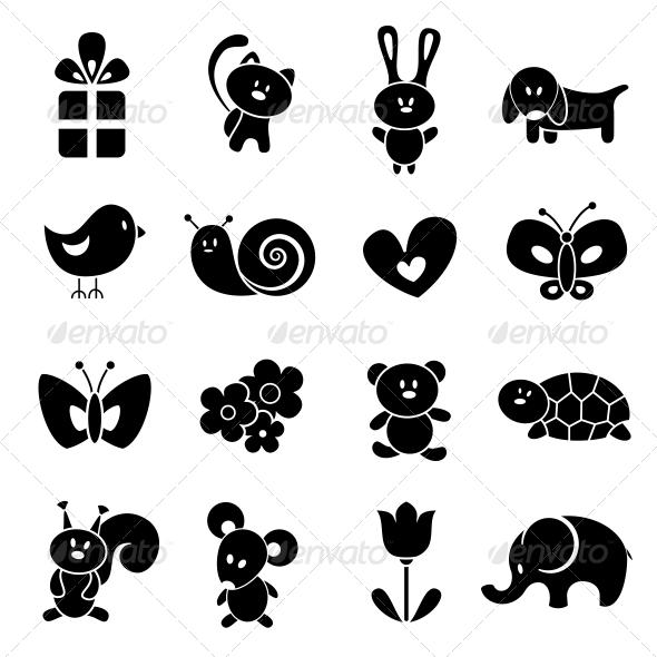 GraphicRiver Baby Icon Set 4926107