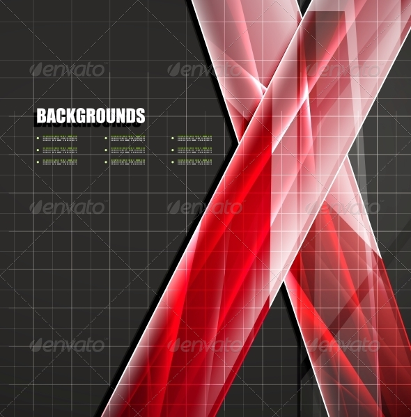 GraphicRiver Colorful Glass Lines Vector 4926141