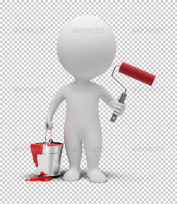 GraphicRiver 3D small people with paint roller 4926163