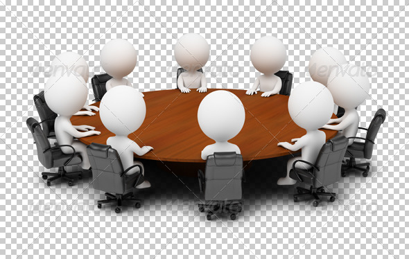 GraphicRiver 3D small people session behind a round table 4926168