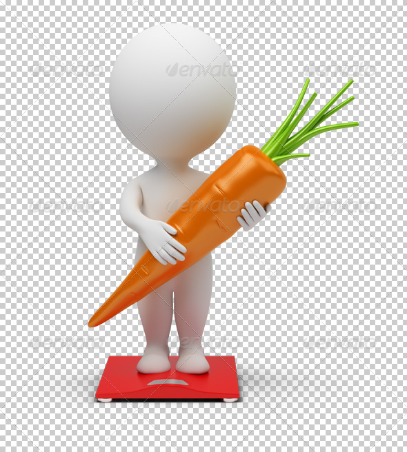 GraphicRiver 3D small people diet 4926200