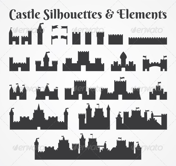 GraphicRiver Various Castle Silhouettes 4926322