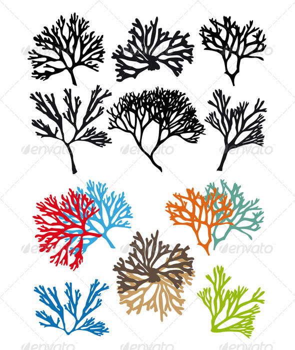 GraphicRiver Corals Reefs Vector Set 4926330