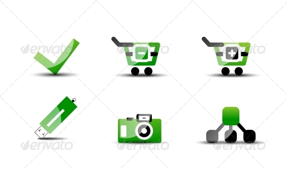 GraphicRiver Modern Green Web Vector 4926373