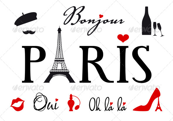 GraphicRiver Paris With Eiffel Tower Vector Set 4926427