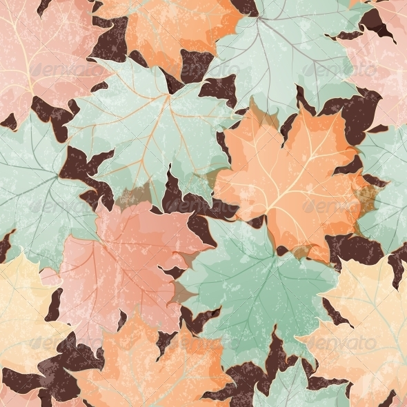 GraphicRiver Maple Leaves Seamless Wallpaper 4926488