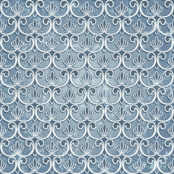 GraphicRiver Blue Seamless Wallpaper 4926536