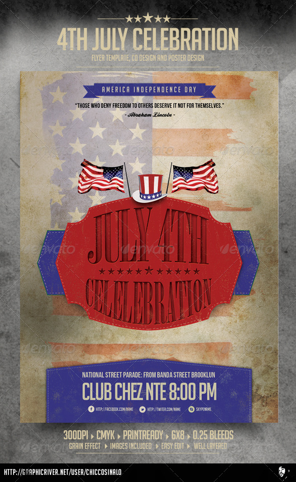 GraphicRiver 4th of July Flyer Template 4863280