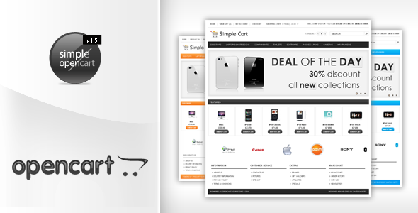 ThemeForest Simplecart Opencart Template in 12 Styles 132538