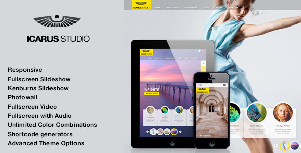 iCarus Fullscreen Studio for WordPress - Photography Creative