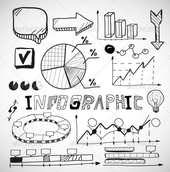 GraphicRiver Infographic Business Graphs Doodles 4927475
