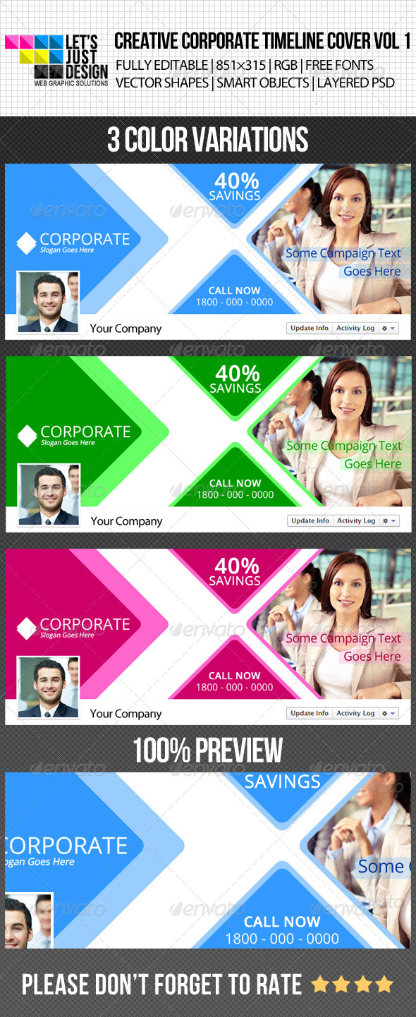 GraphicRiver Creative Corporate Facebook Timeline Cover Vol 1 4927498