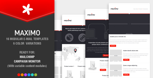 ThemeForest MAXIMO 16 modular e-mail templates 4920160
