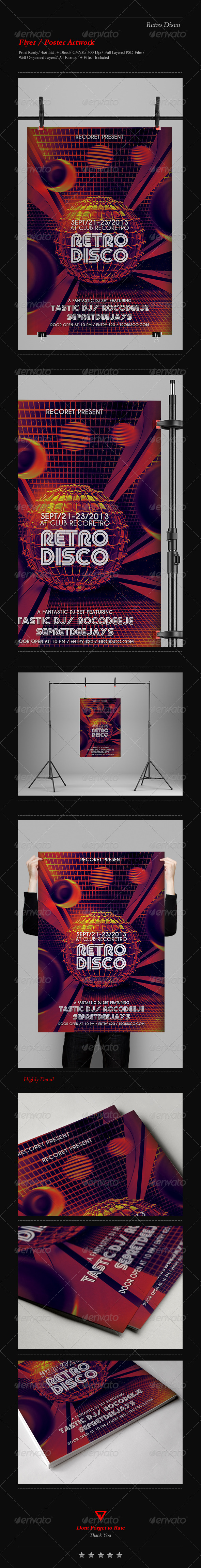 GraphicRiver Retro Futuristic Flyer Poster 4852539