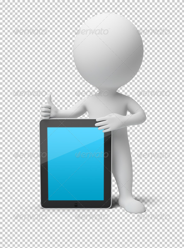 GraphicRiver 3D small people tablet PC 4927890