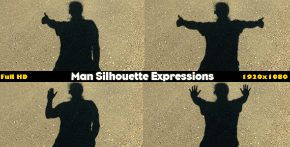 Man Silhouette Expressions