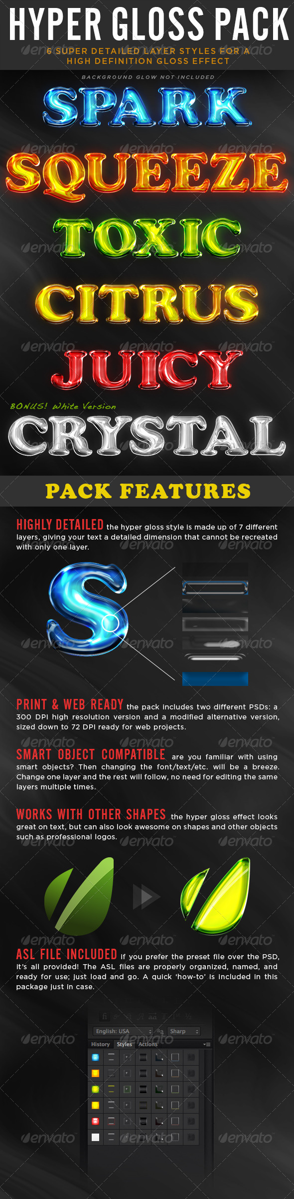 GraphicRiver Hyper Gloss Style Pack 4928199