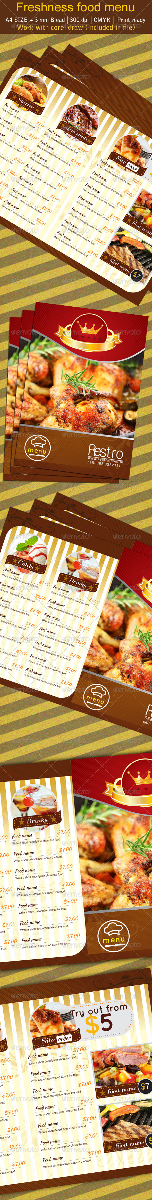 Freshness Restaurant Manu