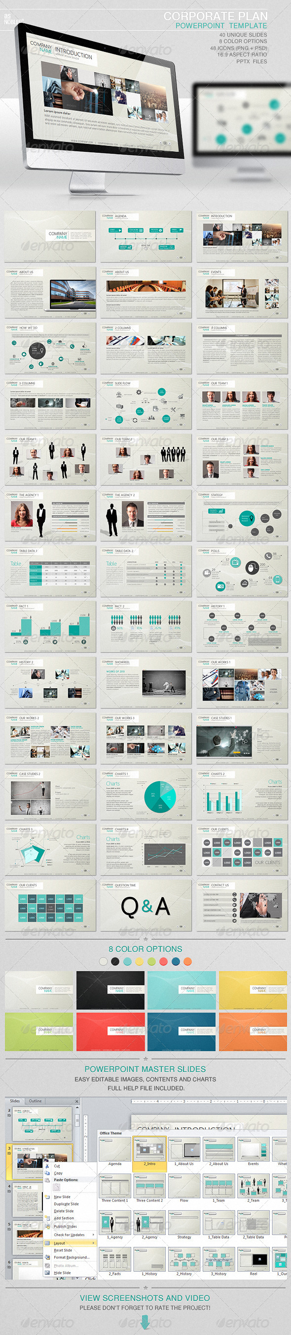 Corporate Plan PowerPoint Template - Presentation Templates