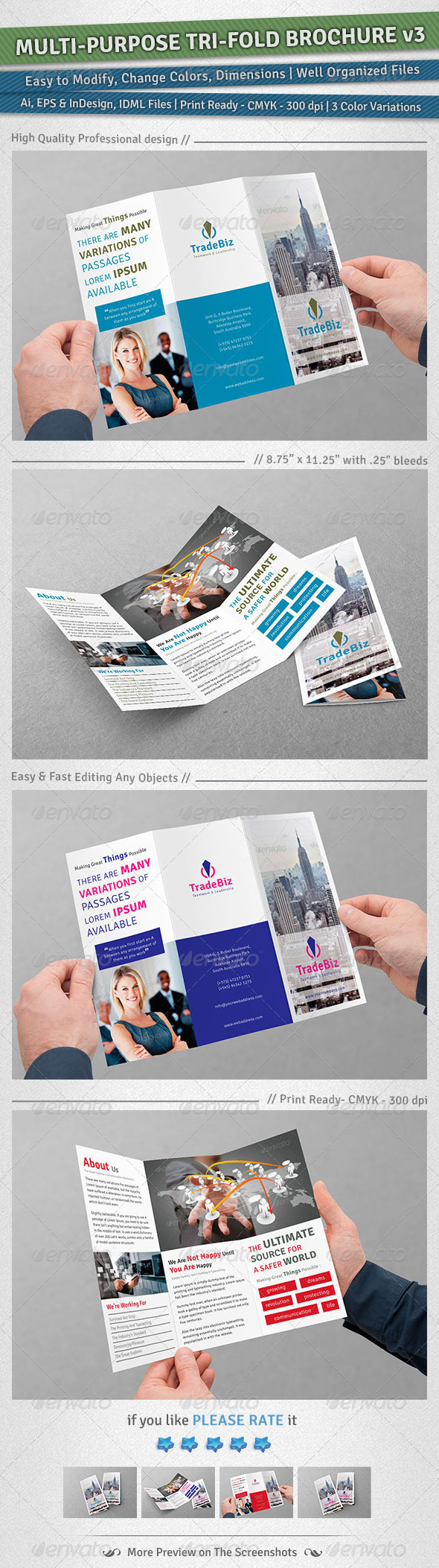 GraphicRiver Multi-purpose Tri-Fold Brochure Volume 3 4928723
