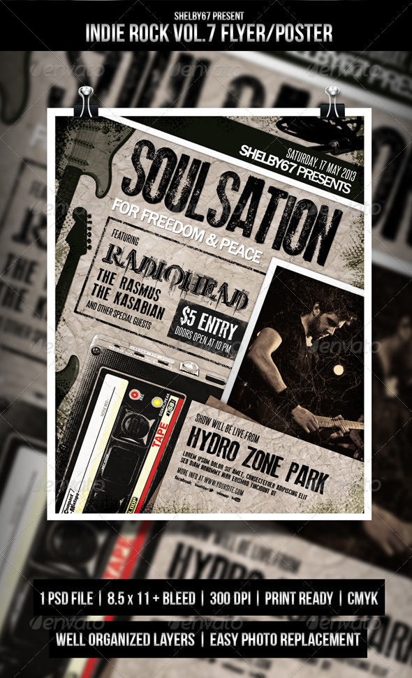 GraphicRiver Indie Rock Flyer Poster Vol.7 4929243