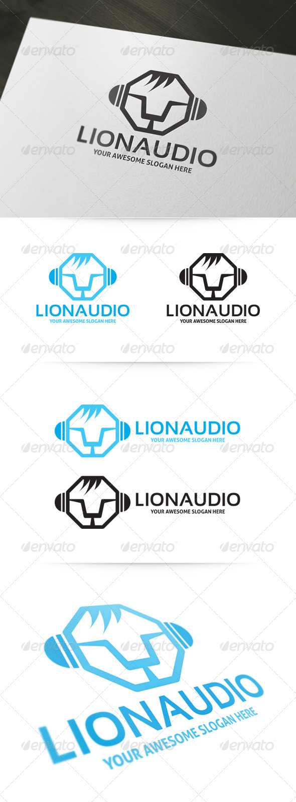 GraphicRiver Lion Audio Logo 4929362