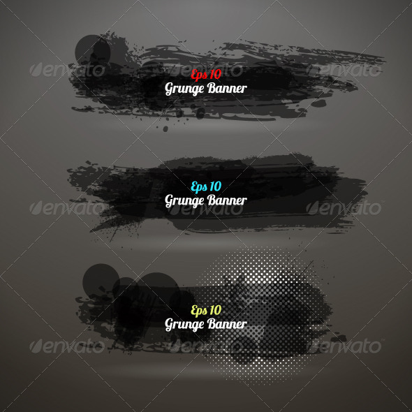 GraphicRiver Grunge Transparency Banner 4904649
