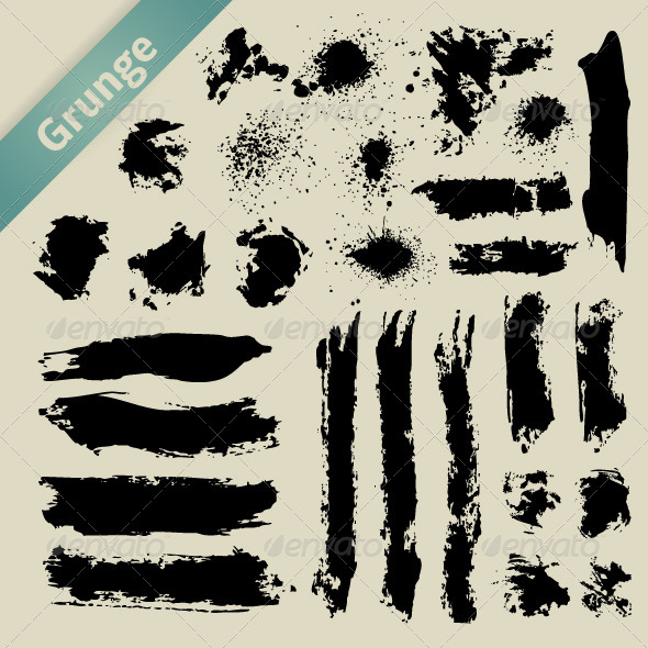 GraphicRiver Grunge Elements Brush 4929483