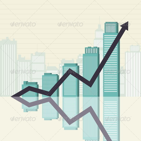 GraphicRiver Business Success Towers Graphic 4929538