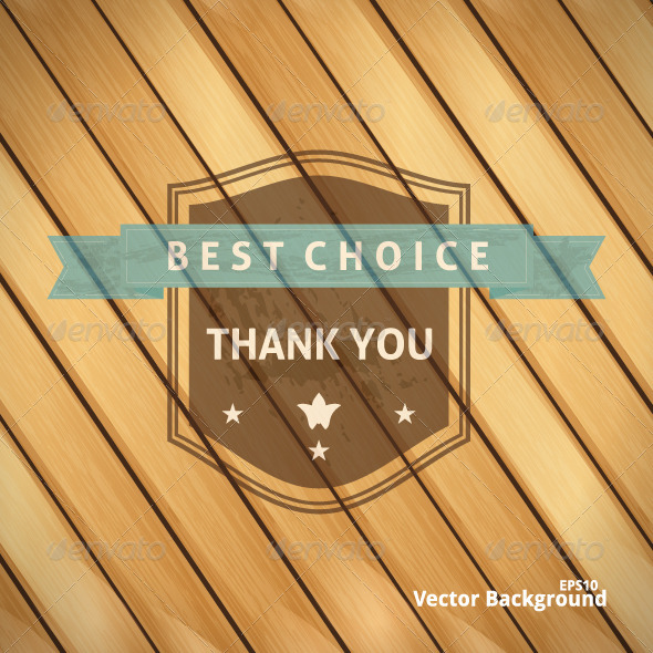 GraphicRiver Best Choice Grunge Banner on Wooden Backdrop 4929587