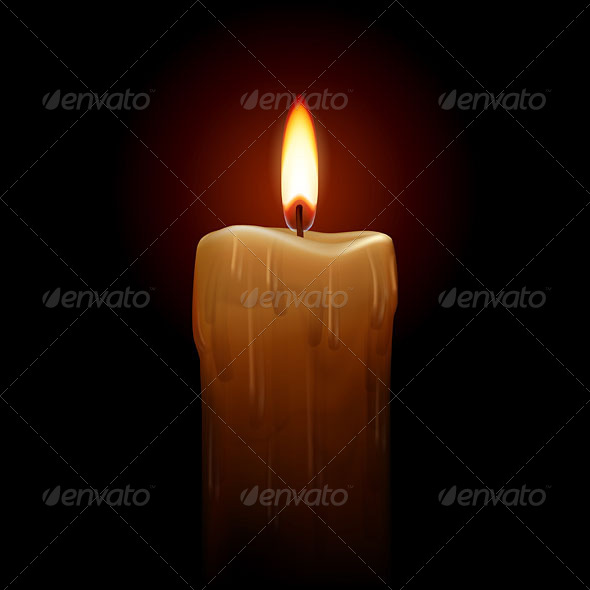 GraphicRiver Burning Candle 4929668
