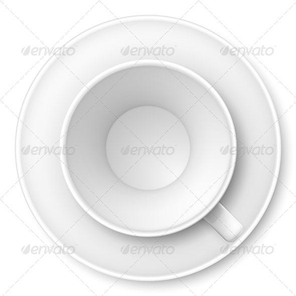 GraphicRiver White Mug and Saucer 4929670