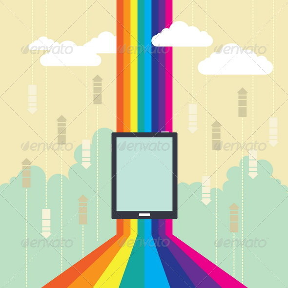 GraphicRiver Colorful Wireless Technology 4929779