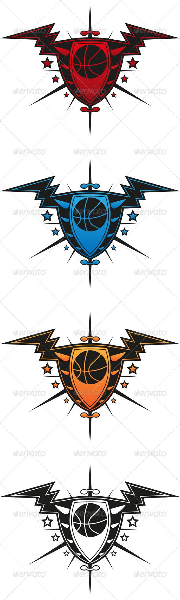GraphicRiver Basketball Emblem 4929813